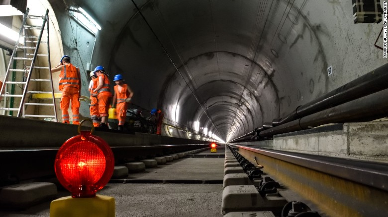 Constructing the world's longest tunnel