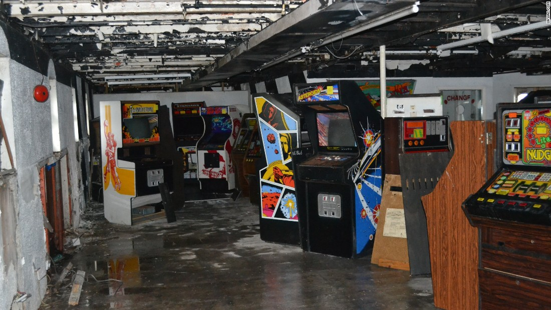 In another area on the lower deck of the ship, several ageing arcade machines are heaped into a gloomy corner looking pretty unloved.  But not for long!