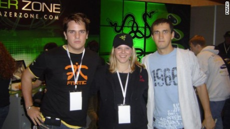 Mathews (left) - pictured at the 2004 World Cyber Games in San Francisco - founded Fnatic to represent the eSports community.