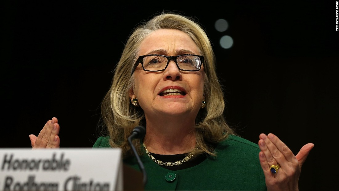 Clinton testifies before the Senate Foreign Relations Committee about the September 11 attacks against the U.S. mission in Benghazi, Libya, on January 23, 2013.