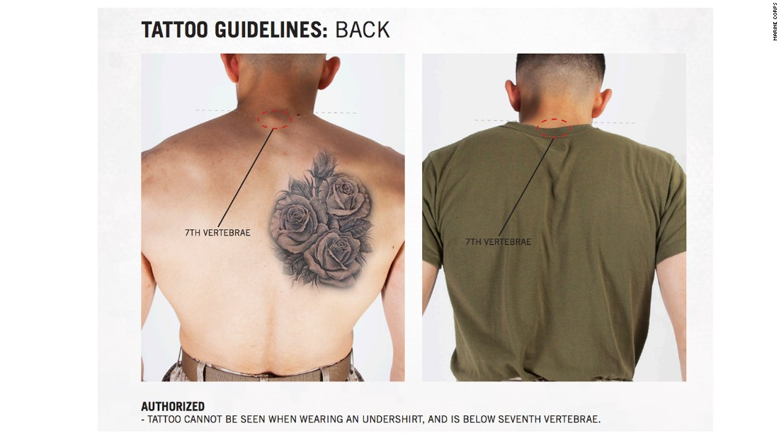 Marines ink new tattoo rules cnnpolitics for Army officer tattoo policy