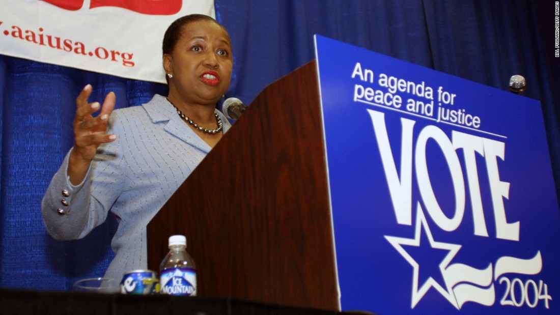 Former Sen. Carol Moseley-Braun  of Illinois sought the 2004 Democratic presidential nomination.