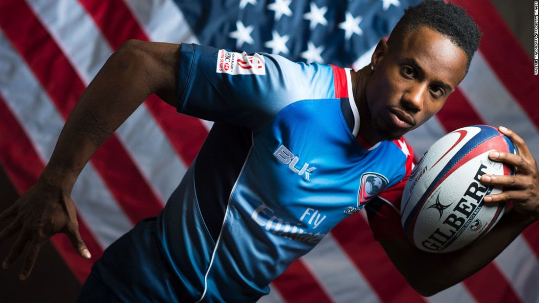 He is dreaming of qualifying for the Rio 2016 Olympics in sprinting as well as being part of the USA Sevens team.