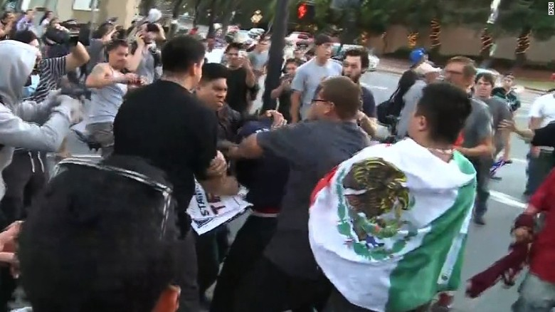 Punches thrown outside Donald Trump rally