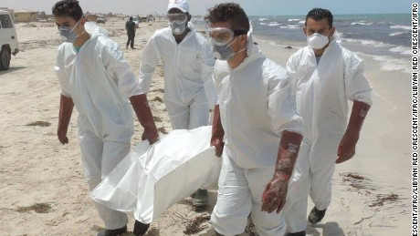 The bodies of 117 were recovered by Libyan Red Crescent volunteers, and transported with dignity for burial. Libyan Red Crescent has confirmed that the majority were women - 75 women, 36 men, and 6 children.