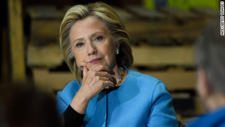 Hillary Clinton participates in a round table discussion with Whitney Brothers management and employees April 20, 2015 in Keene, New Hampshire. The former first lady and secretary of state -- now the clear frontrunner for the Democratic Party presidential ticket -- will meet with students, teachers and small business employees, according to her campaign team. AFP PHOTO/DON EMMERT / AFP / DON EMMERT        (Photo credit should read DON EMMERT/AFP/Getty Images)