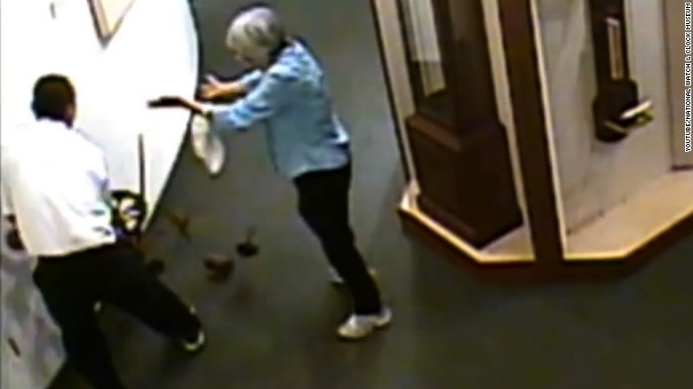 Caught on camera: Museum visitor wrecks clock exhibit