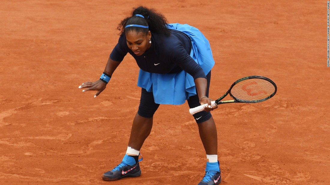A win at Roland Garros would've seen Williams claim a 22nd grand slam title and pull level with Steffi Graf as the most successful female player in the history of the majors.