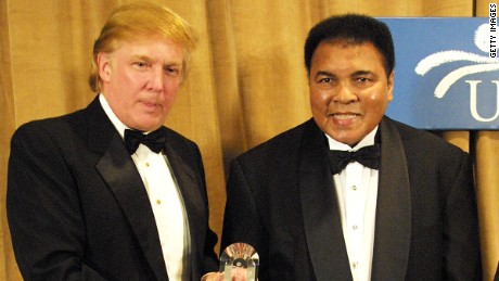 Trump called hypocrite for Muhammad Ali tweet