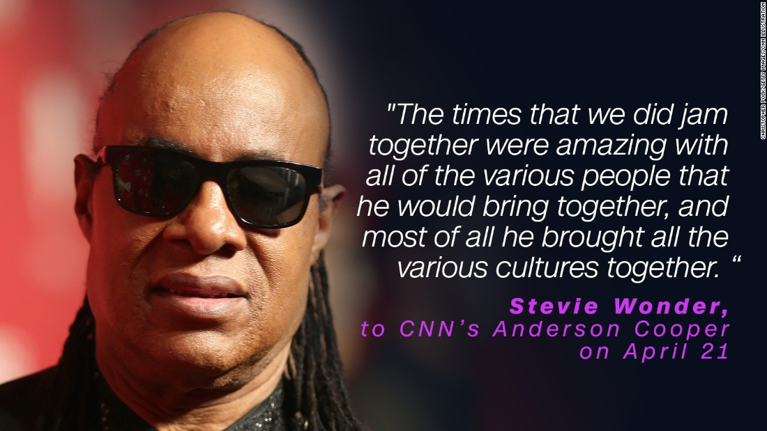 Stevie Wonder admired the versatility of Prince. He and Madonna paid tribute to the late star during the Billboard Music Awards in May.