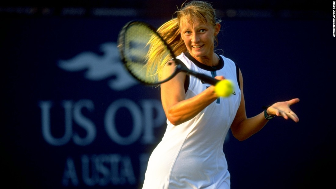 "Croatian player Mirjana Lucic, pictured here a year before she won the Australian Open women's doubles title at just 15, and her mother fled to America while she was a teenager to escape her physically abusive father and coach, Marinko. ""There have been more beatings than anyone can imagine,  sometimes because I lost a game, sometimes because I lost a set,"" Lucic<a href=""https://www.theguardian.com/sport/2003/apr/06/tennis.features1"" target=""_blank""> reportedly said</a> at the time."