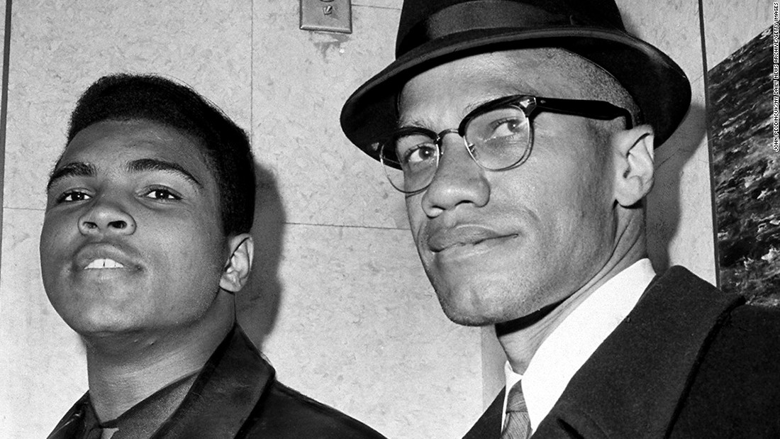 Shortly after he defeated Sonny Liston for the world heavyweight championship in February 1964, Muhammad Ali announced that he had joined the Nation of Islam. Here Ali meets with Malcolm X, who led Ali to the Nation of Islam, in New York.