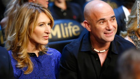 Tennis power couple Steffi Graf and Andre Agassi.