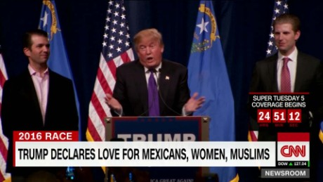 exp Trump declares love for Mexicans, Women and Muslims_00002001