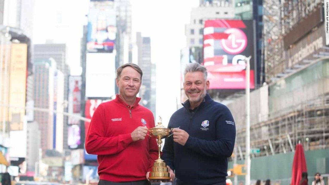 Love III and Clarke were in New York, but the Ryder Cup will take place at Hazeltine in Minnesota.