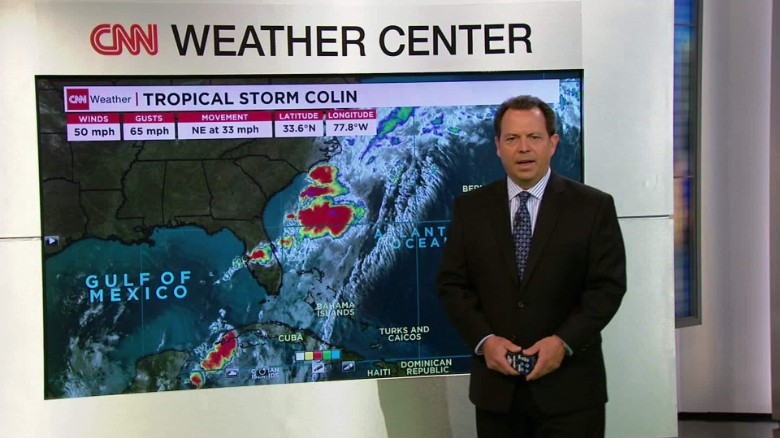 Tropical Storm Colin Moving Away