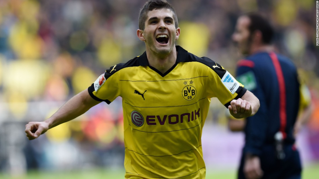 On the bench for Jurgen Klinsmann's U.S. side is 17-year-old midfielder Christian Pulisic, who has broken into the first team at top German club Borussia Dortmund.