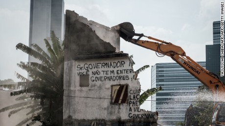 Homes around Rio's Olympic Park have been demolished to make way for the Games.