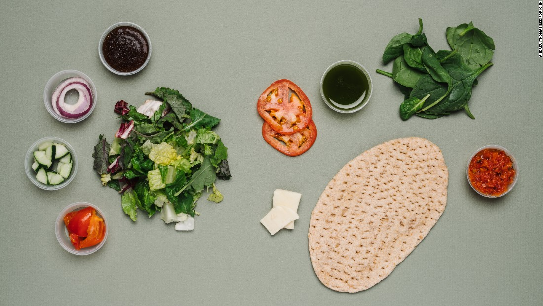 For vegetarians, the tomato mozzarella flatbread and classic salad combo at Panera Bread is lower in sodium compared with other meals with tomatoes, such as a slice of pizza, and has a satisfying amount of fiber and protein.