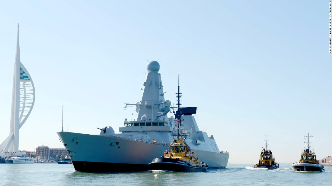 Britain's Royal Navy warships are breaking down because sea is too hot