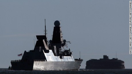 The HMS Daring, the largest and most powerful destroyer warship ever built for the Royal Navy.