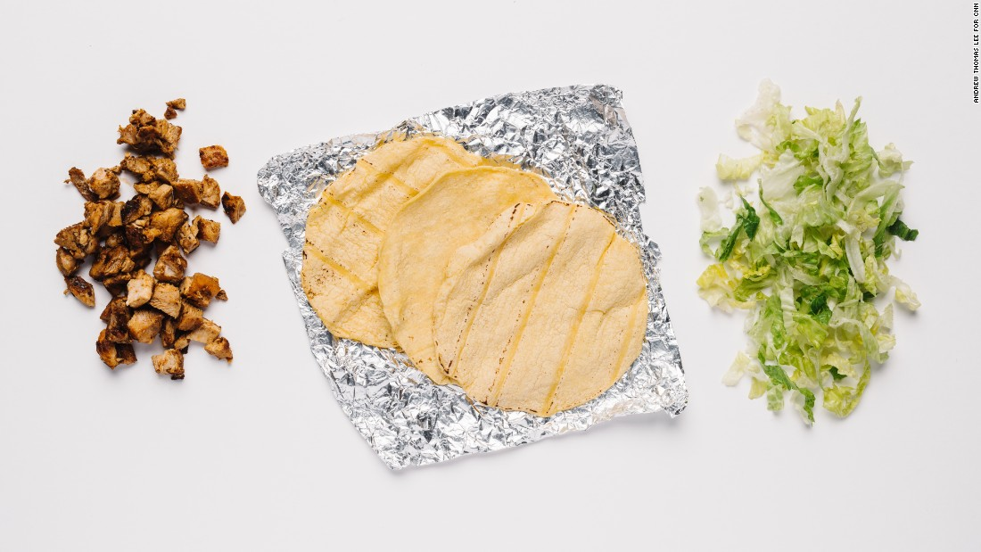 For those who need to keep a close eye on their salt intake, tacos with soft corn tortillas, chicken and romaine lettuce are one of the few low-sodium options available.