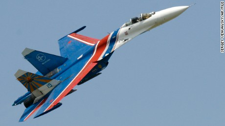 Russia has grounded its Sukhoi Su-27 fighter jets while a crash of one is investigated.