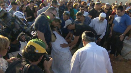 One of the Tel Aviv victims, Ben Ari, is laid to rest Thursday.