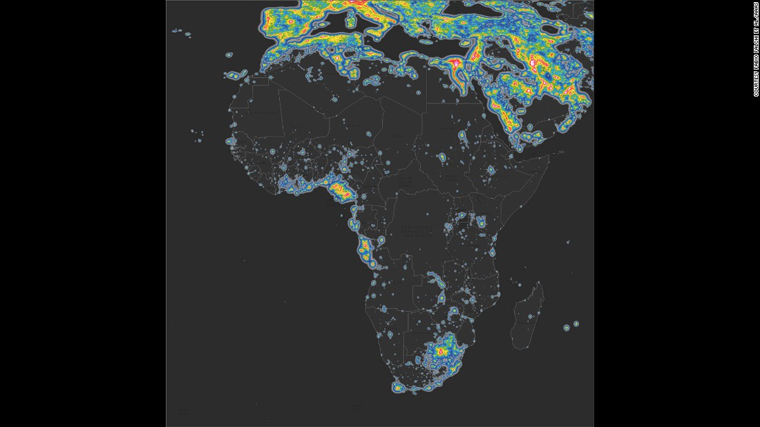 Some of the world's darkest skies can be found on the African continent. The countries with the most pristine nights are Chad, Central African Republic and Madagascar, according to the study.