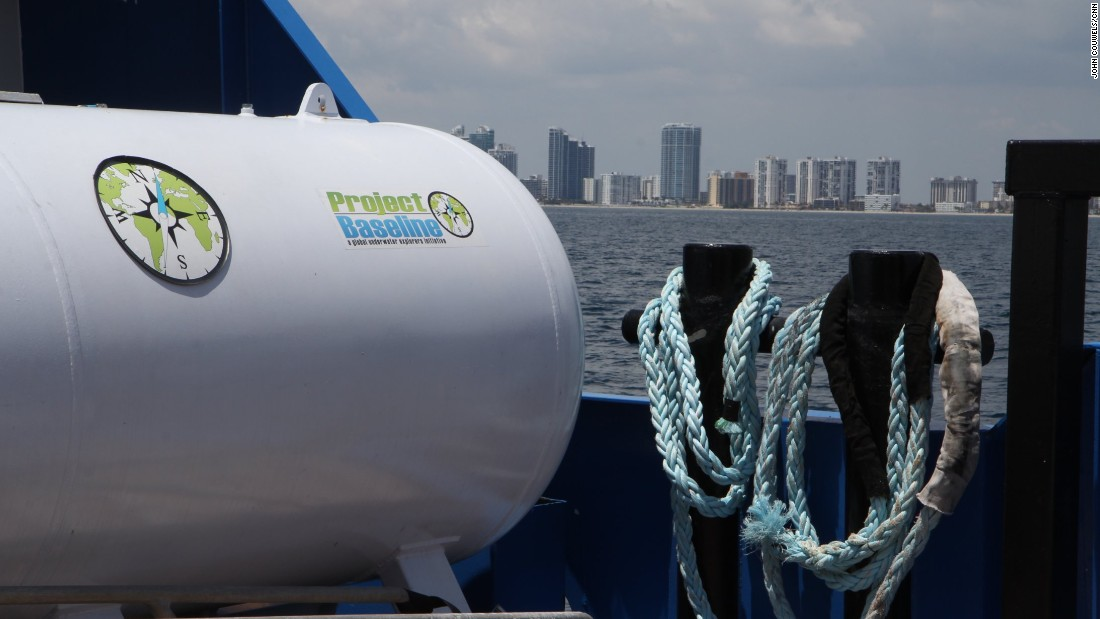 "The Baseline Explorer, one of Project Baseline's vessels, is harbored just outside Port Everglades in Fort Lauderdale. While <a href=""http://oceanservice.noaa.gov/facts/coral_bleach.html"" target=""_blank"">coral bleaching</a> due to warmer water brought on by climate change and the spread of viruses that can damage coral have played a role in the reefs decline, Robert Carmichael, a member of the the group, says some factors can be quickly and directly addressed, including nutrient loading from outflow pipes and dredging of the ports."