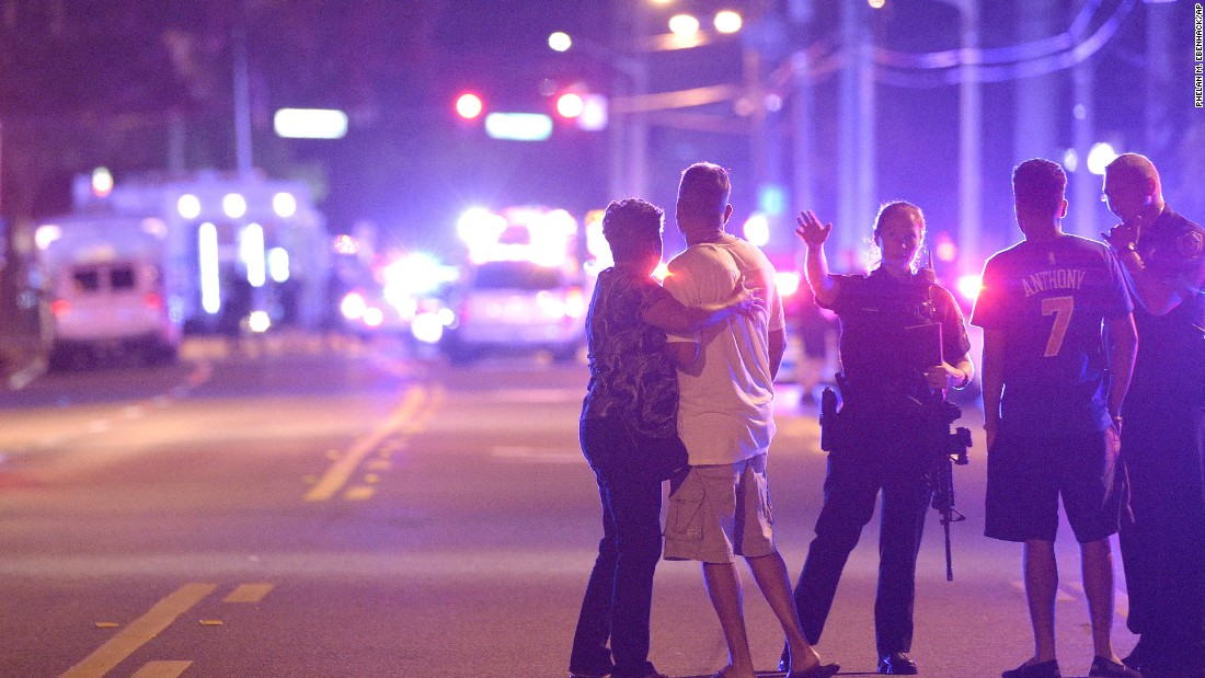 "Police direct family members away from the scene of a shooting at the Pulse nightclub in Orlando in June 2016. Omar Mateen, 29, <a href=""http://www.cnn.com/2016/06/12/us/orlando-nightclub-shooting/index.html"" target=""_blank"">opened fire inside the club,</a> killing at least 49 people and injuring more than 50. Police fatally shot Mateen during an operation to free hostages that officials say he was holding at the club."