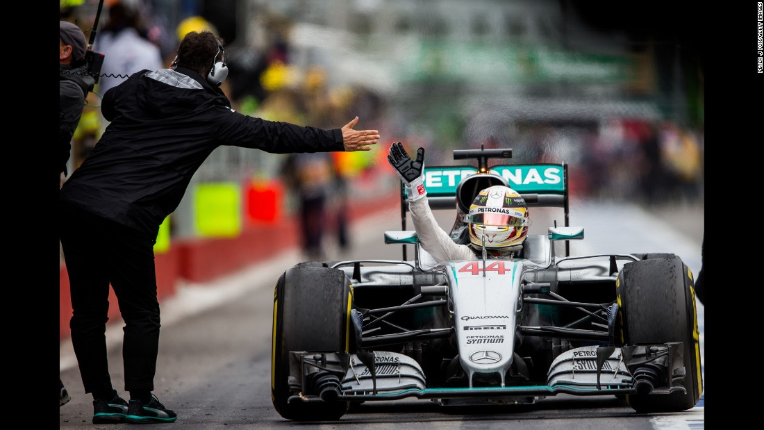 "Formula One driver Lewis Hamilton is congratulated after <a href=""http://www.cnn.com/2016/06/12/motorsport/motorsport-canada-gp-hamilton-vettel/index.html"" target=""_blank"">winning the Canadian Grand Prix</a> on Sunday, June 12. It was the second straight victory for Hamilton, who also won in Monaco two weeks earlier."