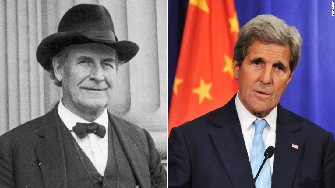 While some treat the State Department as a steppingstone to the White House, several men have made the reverse jump. The most recent is John Kerry, right, who was the Democratic nominee in 2004. Nebraska politician William Jennings Bryan took the top diplomatic post after running as the Democratic candidate in three presidential elections.
