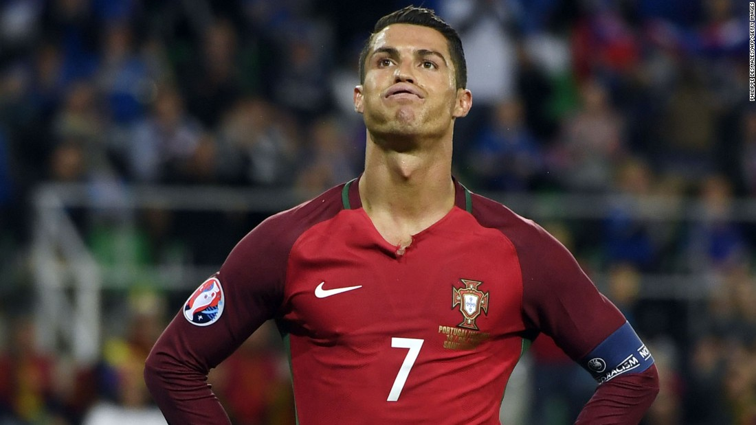"Cristiano Ronaldo reacts during Portugal's 1-1 draw against Iceland. He labeled his opponents as having ""small mentalities"" after the tiny islanders held on for a draw in its first match at a major international tournament."