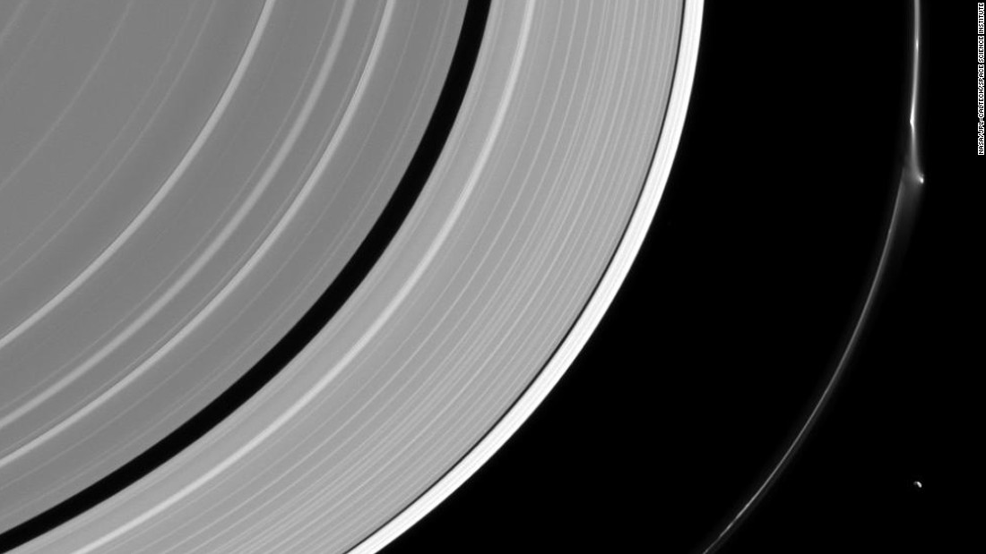 A bright disruption in Saturn's narrow F ring suggests it may have been disturbed recently by the interaction of a small object embedded in the ring itself. They are hard to see, but their handiwork reveals their presence, and scientists use the Cassini spacecraft to study these stealthy sculptors of the F ring.
