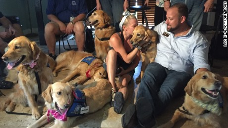 Dogs from around the country are providing unconditional love in Orlando.