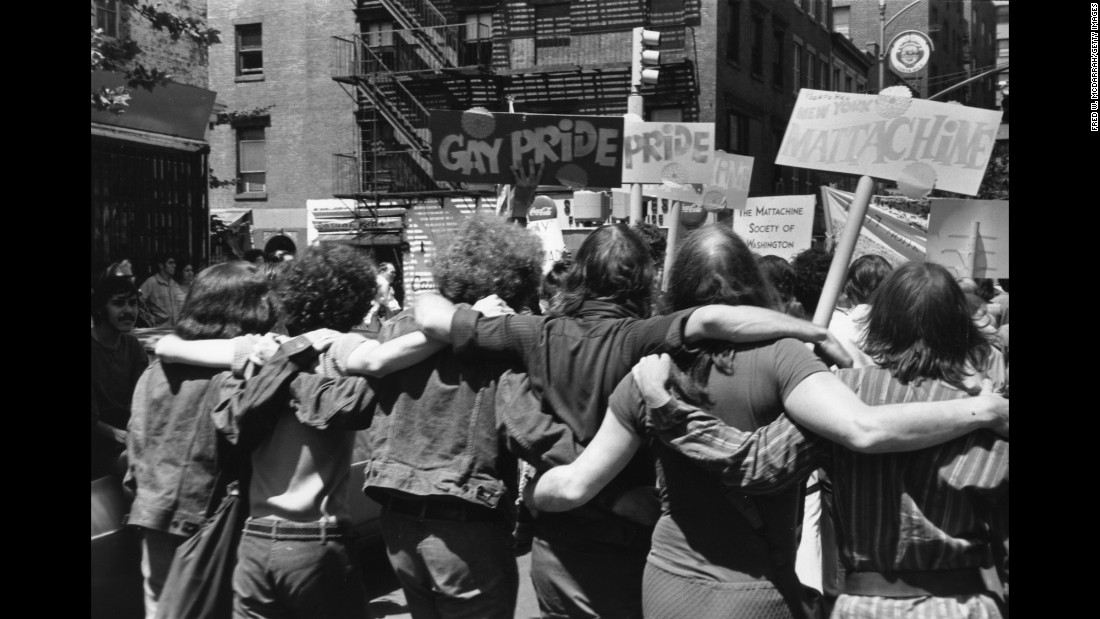 The parade was called Christopher Street Liberation Day. The Stonewall Inn is on Christopher Street. The riots at the gay bar and the protests that followed were a turning point for LGBT rights in the United States.