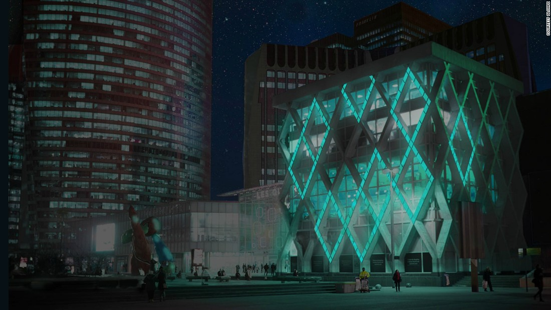 "A rendering of French start-up <a href=""http://www.glowee.eu/"" target=""_blank"">Glowee</a>'s vision of urban lighting, which uses bioluminescence, a kind of living energy source found in nature. Its soft glowing light emits less heat and light pollution than ordinary lighting, the company says."