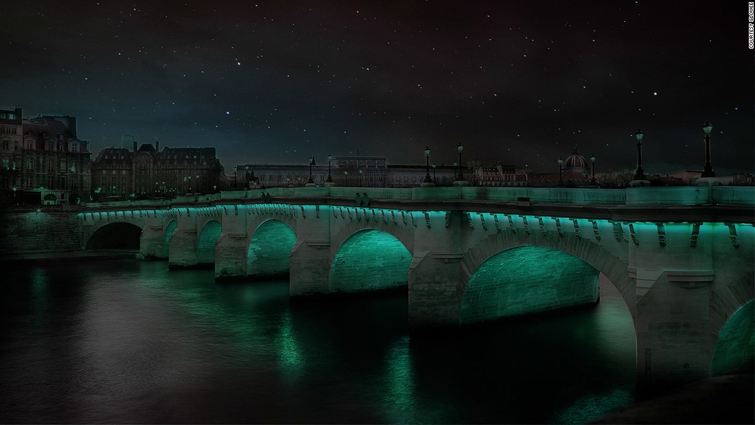 French start up Glowee has an alternative solution to electricity in urban areas, shown in this rendering.