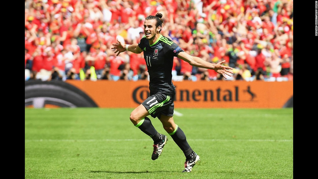 Welsh superstar Gareth Bale opened the scoring with a free kick late in the first half. It was his second free-kick goal of the tournament.