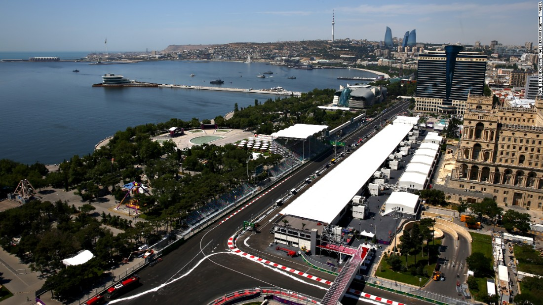 Nestling on the Caspian Sea, the Baku City Circuit is set to become the fastest street track in Formula One with the cars expected to reach top speeds of 340 kph (210 mph) on the straights.