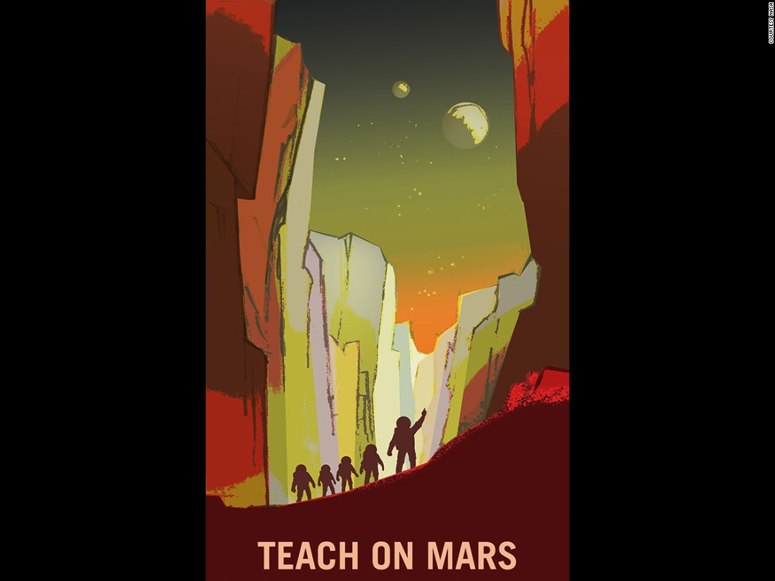 Hate Your Job NASA Wants You To Work On Mars CNN Style - Retro style posters from nasa imagine how the future of space travel will look