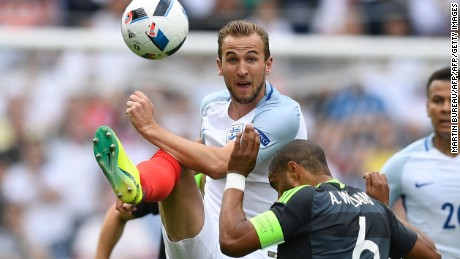 Harry Kane started in attack for England.
