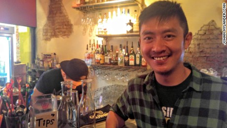 Alvin Chang, now aged 45, runs one of Taipei's most famous gay bars, Dalida, in the heart of the city's gay village