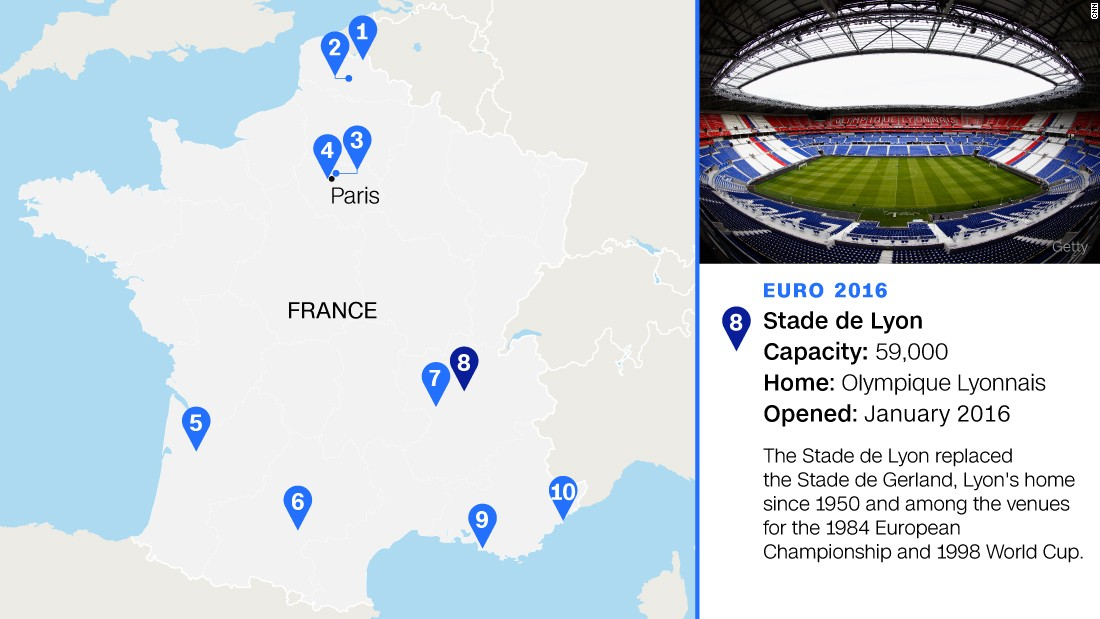 The new home of seven-time French champion Lyon will stage four group games, a last-16 match and a semifinal.