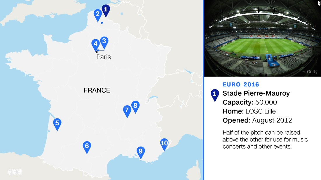 Named after the former French prime minister, who was also a mayor of Lille, the club's multifunctional €300 million ($337 million) new home will stage  four group games, a last-16 match and a quarterfinal.