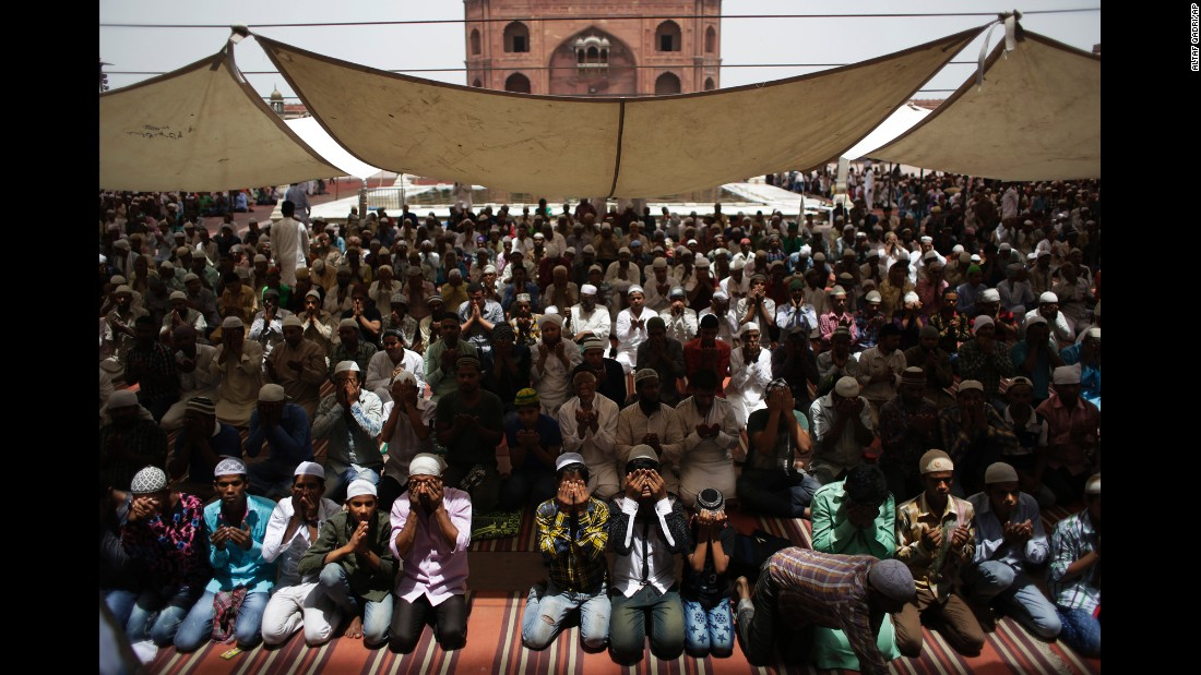"Muslims pray at Jama Masjid, a mosque in New Delhi, on Friday, June 10. Ramadan, <a href=""http://www.cnn.com/2016/06/06/world/gallery/ramadan-around-world/index.html"" target=""_blank"">the most sacred month in the Muslim year,</a> started on June 5."