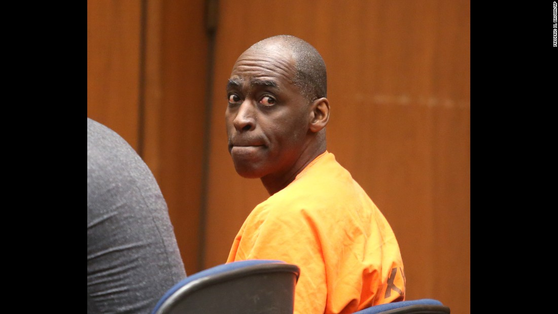 "Actor Michael Jace sits in Los Angeles Superior Court on Friday, June 10, as he is <a href=""http://www.cnn.com/2016/06/10/entertainment/jace-sentenced/"" target=""_blank"">sentenced to 40 years in prison</a> for the murder of his wife, April."