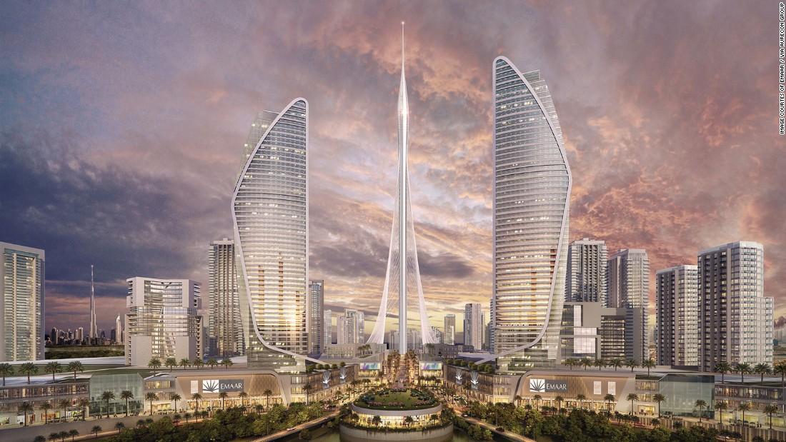 tower at dubai creek harbour joins race to be worlds tallest building cnn style - Future Tallest Building In The World Under Construction