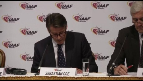 IAAF statement ban on russia track team sot_00000000